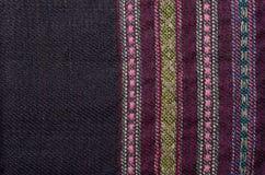 Primo piano del di lana homespun Fotografie Stock