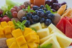 Primo piano del disco della frutta immagini stock