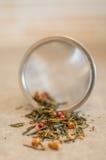 Primo piano del filtro del tè Immagini Stock Libere da Diritti