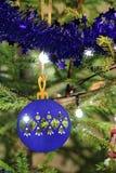 Primo piano del fondo dell'Natale-albero Fotografia Stock Libera da Diritti