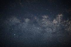 Primo piano del fondo della galassia della Via Lattea della Via Lattea Esposizione lunga fotografie stock
