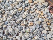 Primo piano del fondo della pietra o della ghiaia Immagini Stock Libere da Diritti