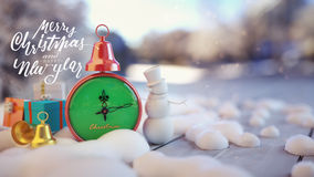 Primo piano del fondo di Natale Immagini Stock