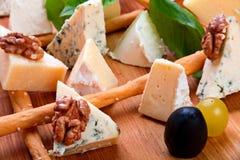 Primo piano del formaggio della miscela Fotografia Stock