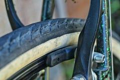Primo piano del freno della bicicletta Fotografie Stock
