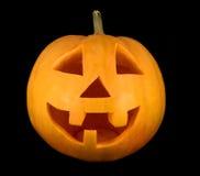 Primo piano del fronte della zucca di Halloween Immagini Stock Libere da Diritti