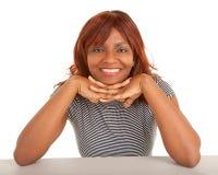 Primo piano del fronte di bella signora dell'afroamericano Immagine Stock Libera da Diritti