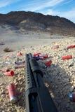 Primo piano del fucile da caccia fotografia stock libera da diritti