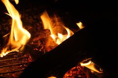 Primo piano del fuoco immagine stock