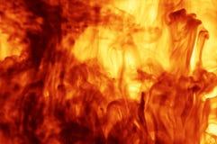 Primo piano del fuoco Fotografia Stock Libera da Diritti