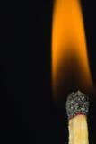 Primo piano del fuoco della corrispondenza Fotografie Stock