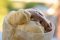 Primo piano del gelato Fotografie Stock Libere da Diritti