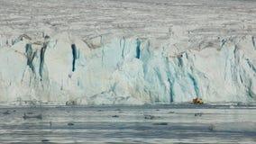 Primo piano del ghiacciaio del 14 luglio nelle Svalbard Fotografia Stock Libera da Diritti