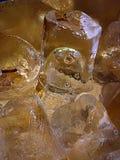 Primo piano del ghiaccio Fotografie Stock