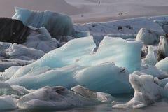 Primo piano del ghiaccio in Islanda immagini stock libere da diritti