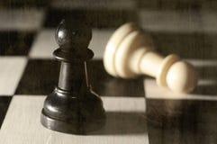 Primo piano del gioco di scacchi Fotografia Stock