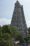 Primo piano del Gopuram del nord del tempio di Meenakshi Immagine Stock Libera da Diritti