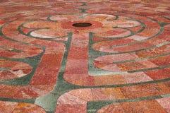 Primo piano del labirinto della st Francis Fotografie Stock