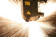 Primo piano del laser immagini stock