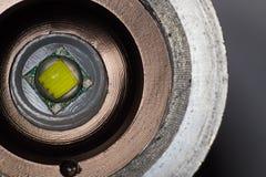 Primo piano del LED nel telaio del ferro Fotografia Stock