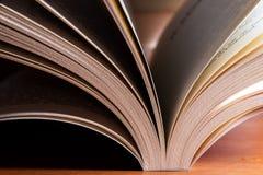 Primo piano del libro Fotografie Stock