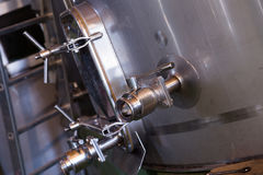 Primo piano del macchinario della fabbrica Immagini Stock