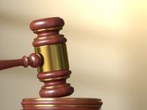 Primo piano del martelletto del giudice Fotografie Stock Libere da Diritti