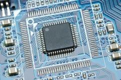 Primo piano del micro chip Fotografia Stock Libera da Diritti