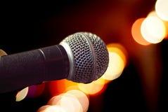 Primo piano del microfono Fotografie Stock