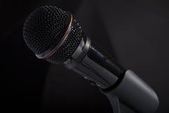 Primo piano del microfono fotografie stock libere da diritti