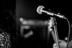 Primo piano del microfono Fotografia Stock