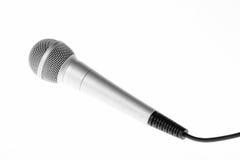 Primo piano del microfono di concerto Fotografie Stock Libere da Diritti