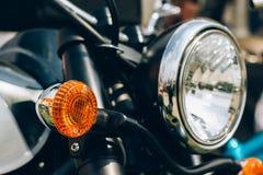 Primo piano del motociclo Fotografia Stock