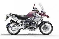 primo piano del motociclo di Doppio-sport Immagini Stock