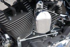 Primo piano del motore del motociclo Fotografie Stock