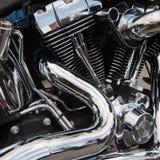Primo piano del motore del motociclo Immagine Stock