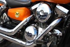 Primo piano del motore del motociclo Fotografia Stock Libera da Diritti
