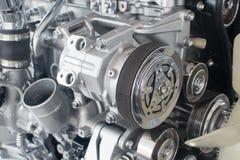 Primo piano del motore di automobile Fotografie Stock