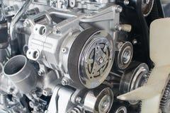 Primo piano del motore di automobile Fotografie Stock Libere da Diritti
