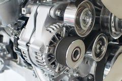 Primo piano del motore di automobile Fotografia Stock Libera da Diritti