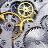 Primo piano del movimento a orologeria Fotografia Stock