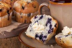 Primo piano del muffin ai mirtilli Immagine Stock Libera da Diritti