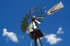 Primo piano del mulino a vento Fotografie Stock Libere da Diritti