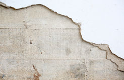 Primo piano del muro di cemento incrinato Fotografie Stock