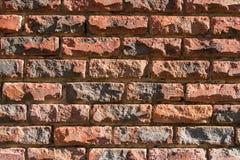 Primo piano del muro di mattoni Fotografie Stock Libere da Diritti