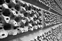 Primo piano del muro di mattoni Fotografia Stock