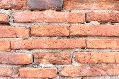 Primo piano del muro di mattoni libero Fotografie Stock