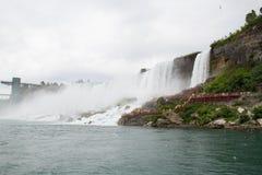 Primo piano del Niagara Falls Immagine Stock