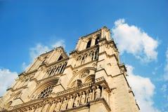 Primo piano del Notre Dame Fotografia Stock