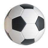 Primo piano del pallone da calcio Fotografie Stock Libere da Diritti